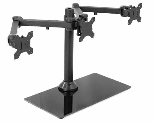 VIVO Black Triple Monitor Mount