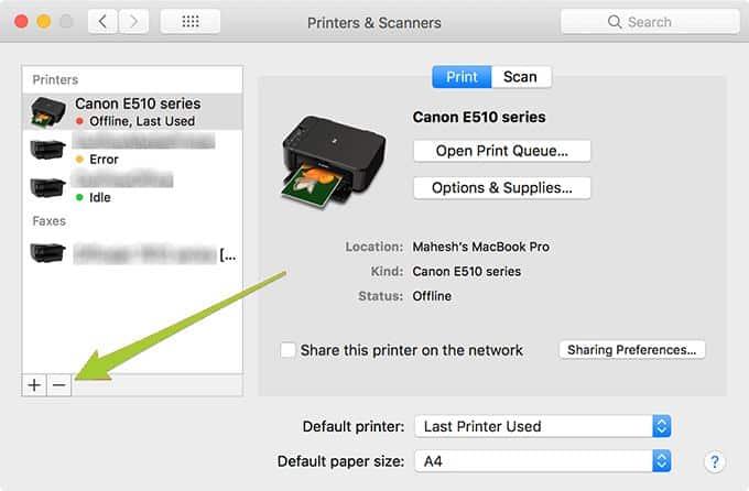 print black and white on Mac