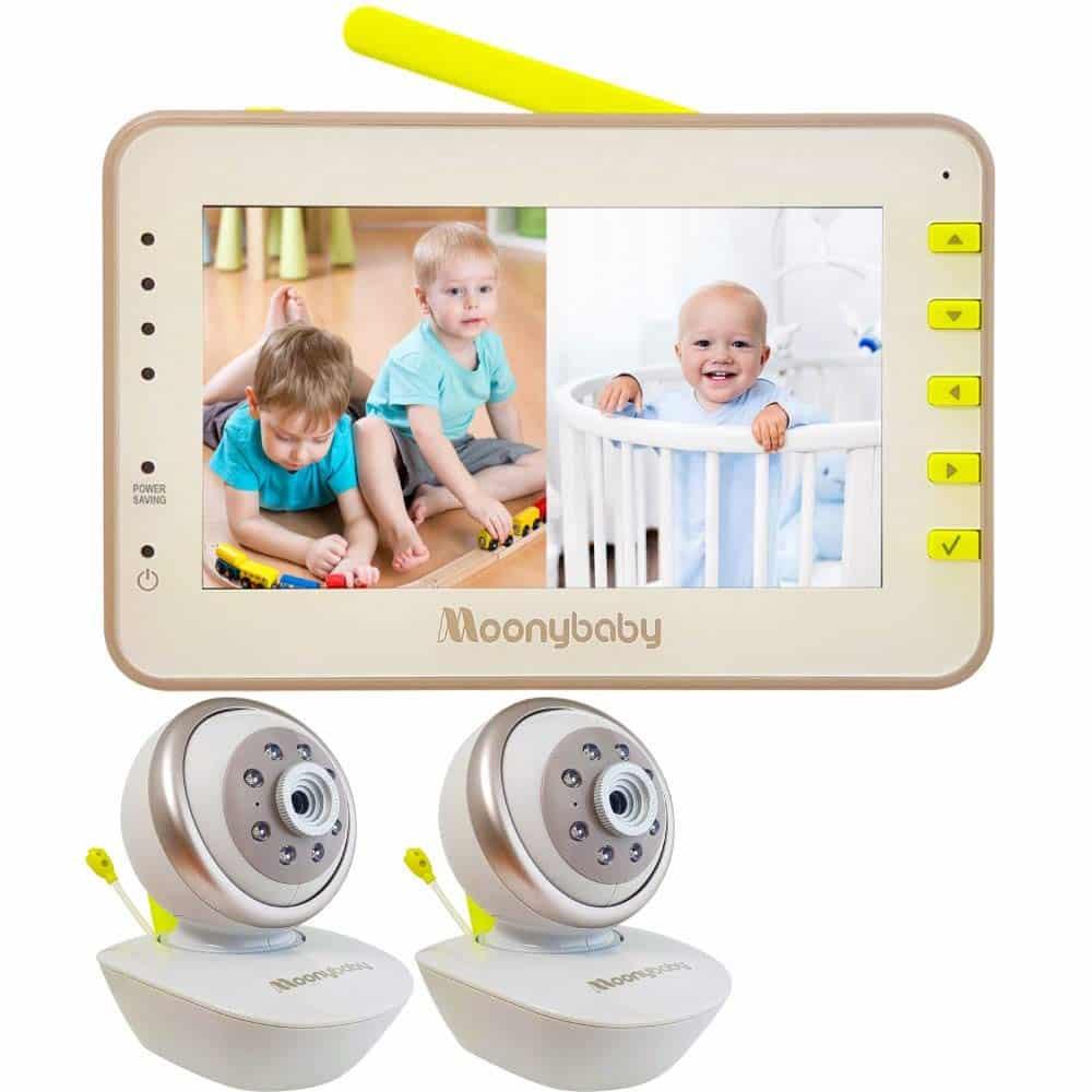 Moonybaby - best split screen baby monitor