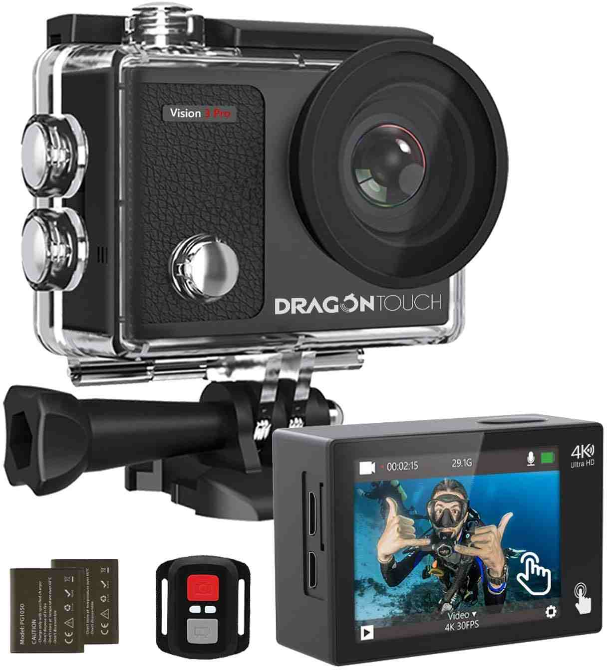 Dragon Touch - best helmet cam for motorcycles
