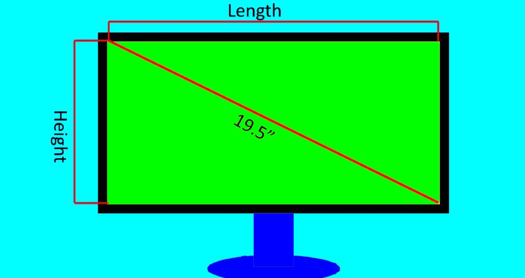 MEASURING SIZE  - HOW TO MEASURE MONITOR SIZE
