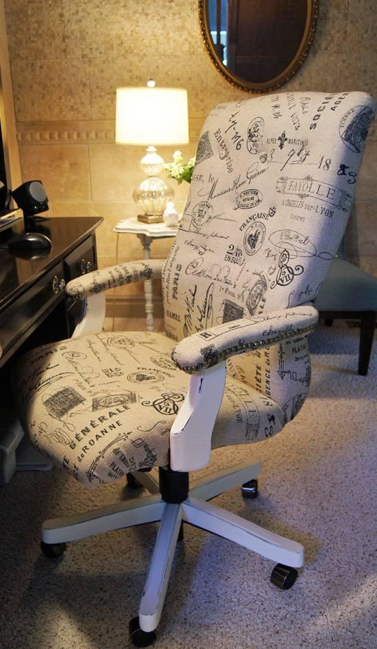 diy reupholster an office chair